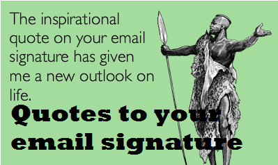 quotes to your email signature